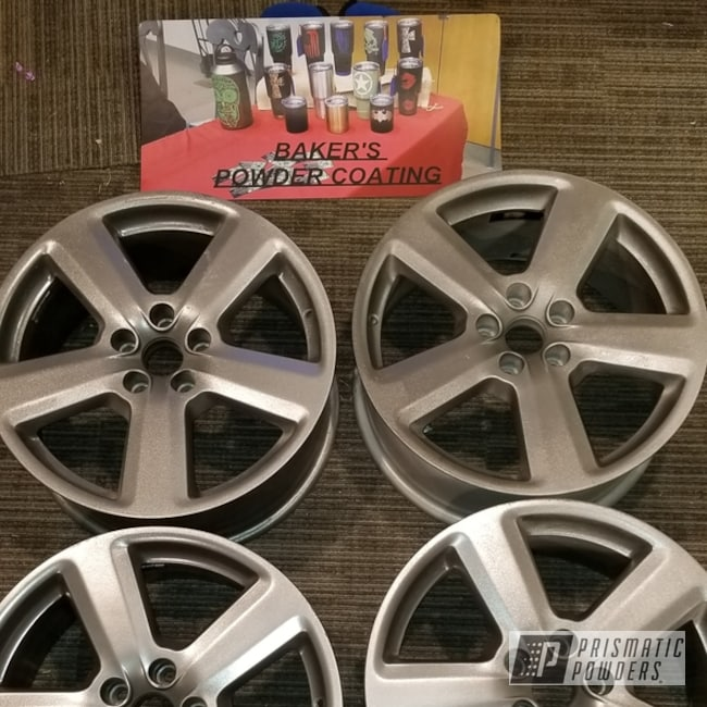 "Powder Coating: Wheels,Automotive,Audi Wheels,18"",Audi,Glass Grey PMB-2665"