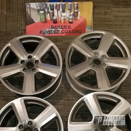 "Powder Coating: Wheels,Automotive,Audi Wheels,18"",Audi,Glass Grey PMB-2665"