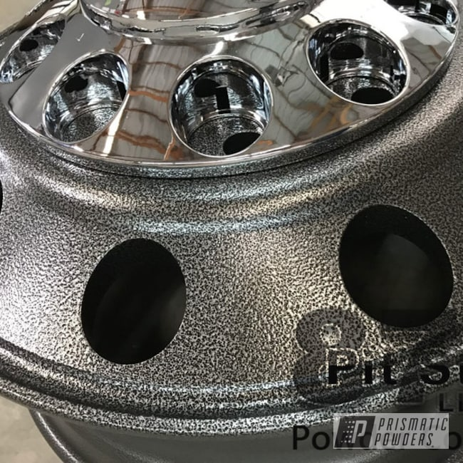 Powder Coating: Wheels,Automotive,Textured Finish,Semi,Textured Powder Coating,Textured,Silver Artery PVS-3014