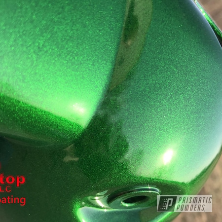 Powder Coating: Illusion Money PMB-6917,Clear Vision PPS-2974,Two Stage Application,Bike,Two Stage