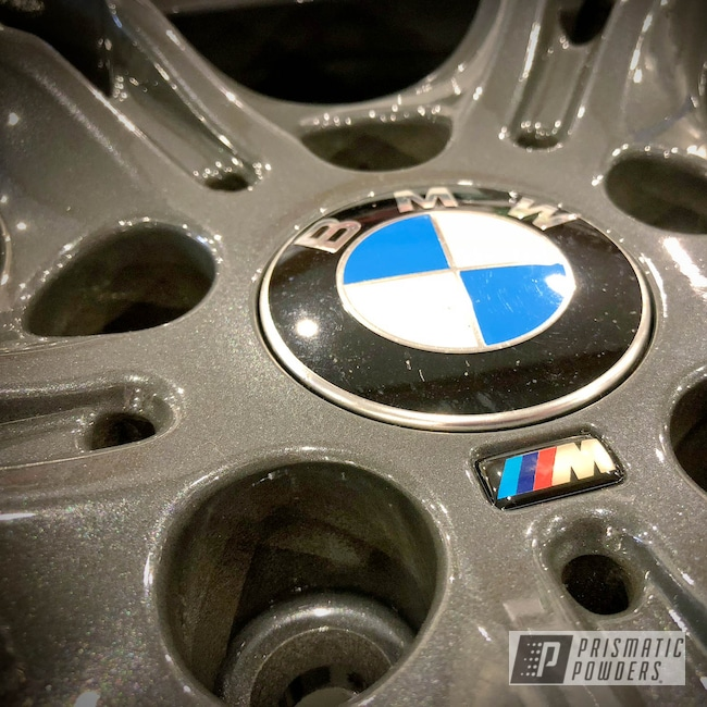 Powder Coating: Wheels,Automotive,Clear Vision PPS-2974,Steel Metallic,BMW,BMW M Wheels,Steel Metallic PMB-6340