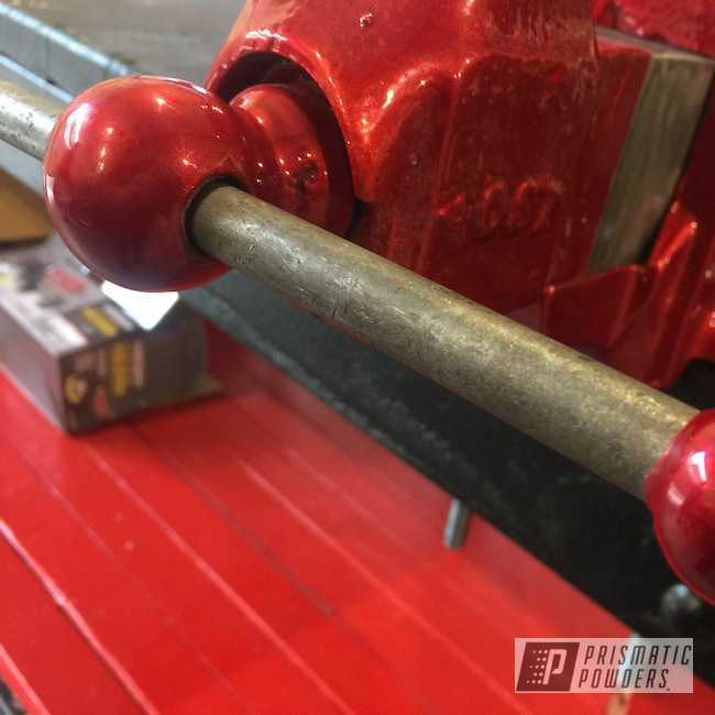 Powder Coating: candy red,Heavy Silver PMS-0517,Vice,LOLLYPOP RED UPS-1506,Tools,Candy