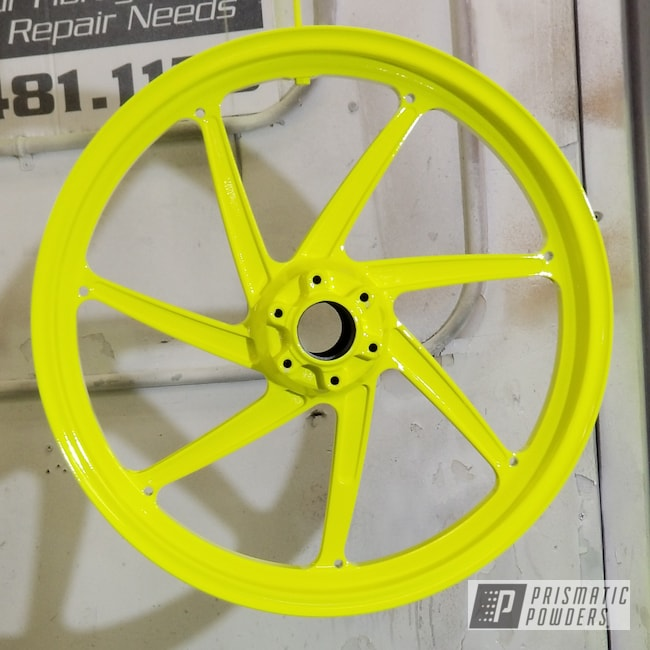 Powder Coating: Wheels,Clear Vision PPS-2974,Custom Motorcycle Parts,Motorcycle Parts,Bike Rims,Neon Yellow PSS-1104,Motorcycles,Custom Motorcycle Accents,Gloss White PSS-5690