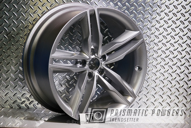Powder Coating: Wheels,Automotive,Cascade Silver PMB-4475,Audi Rims