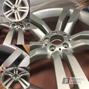 Mercedes Wheels Coated In A Heavy Silver Powder Coat