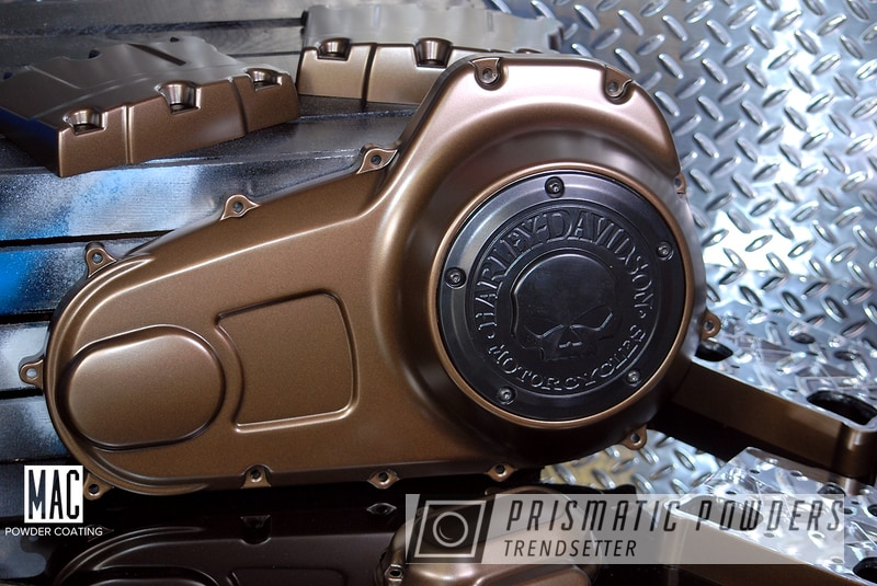 Powder Coating: Harley Davidson,TRIPLE BRONZE UMB-4548,Motorcycle Cover,Custom Motorcycle Parts,Motorcycle Parts,Motorcycles,Engine Cover