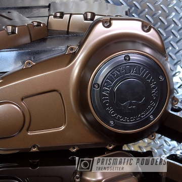 Custom Harley Davidson Covers In A Triple Bronze Powder Coat
