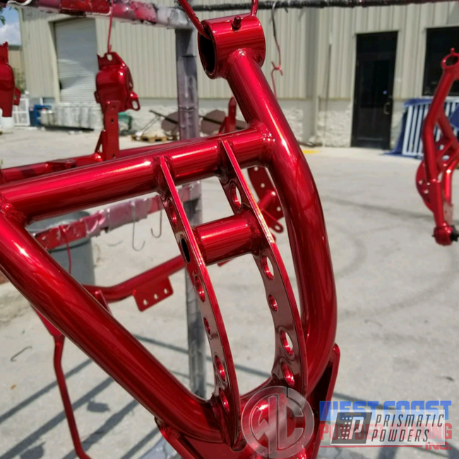 Powder Coating: Suspension Parts,Translucent,Ridetech,Super Chrome USS-4482,Suspension Lift Components,Powder Coated Suspension,Two Coat,Deep Red PPS-4491,Deepred,Suspension