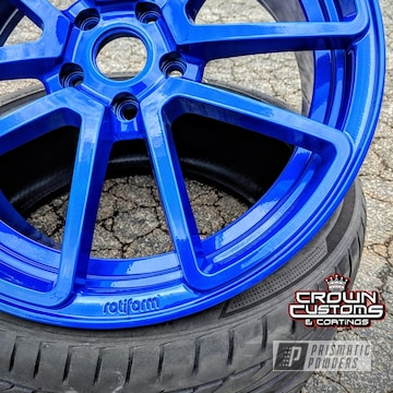 Rotiform Wheels Refinished In Illusion Blueberry With Clear Vision Top Coat