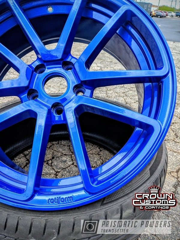Powder Coating: Wheels,Automotive,Clear Vision PPS-2974,Illusion Blueberry PMB-6908,Rotiform,Rotiform Wheels