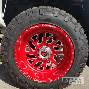 Illusion Red And Clear Vision On This Chevy Silverado 22x12 Fuel Ff51 Rims And Suspension Components