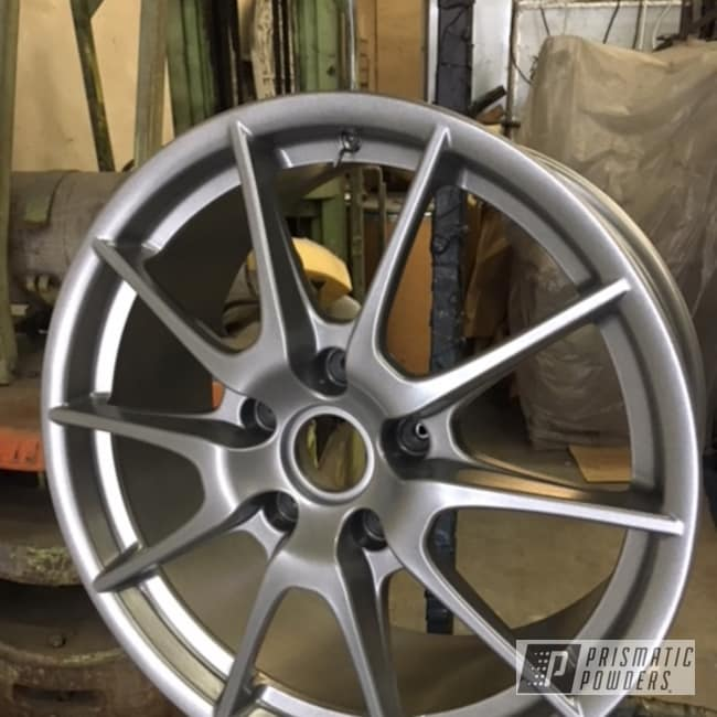 Wheels Done In A Cosmic Grey Powder Coat