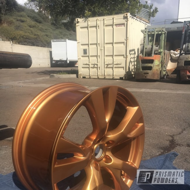 Powder Coating: Illusion True Copper PMB-10044,Wheels,Automotive,Clear Vision PPS-2974,Two Stage Application