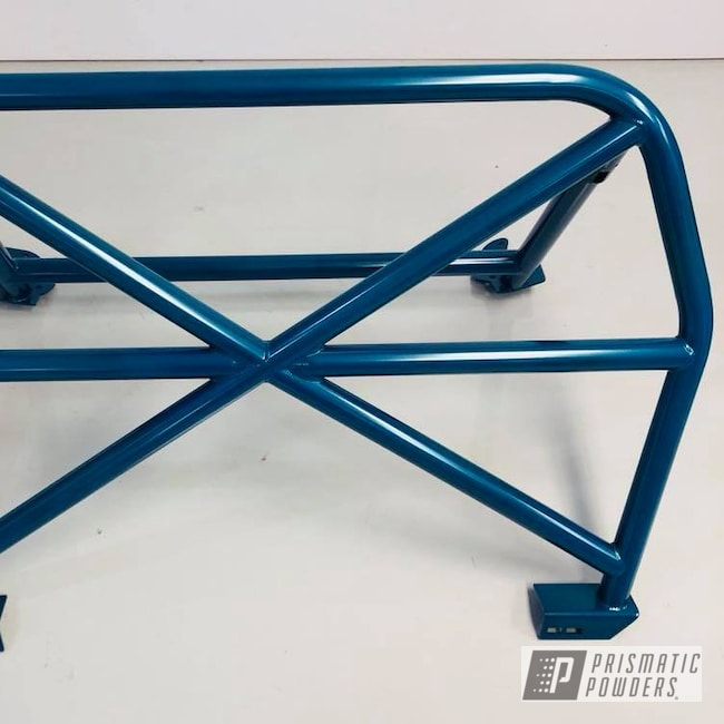 Powder Coating: Automotive,Tahitian Teal PMB-1250,Porsche,Roll Bar