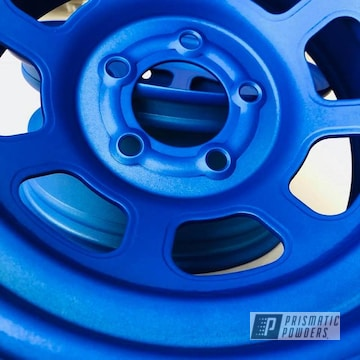 Custom Bassett Racing Wheels For Hobby Stock In Illusion Blueberry Topped With Casper Clear