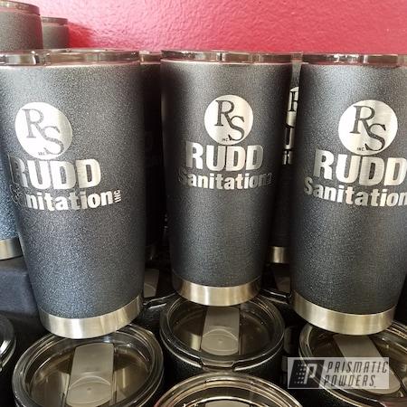 Powder Coating: Custom Cups,Tumbler,cups,Custom Drinkware,Textured Finish,Silver Splatter PWB-3044,Custom Tumbler Cups,Textured