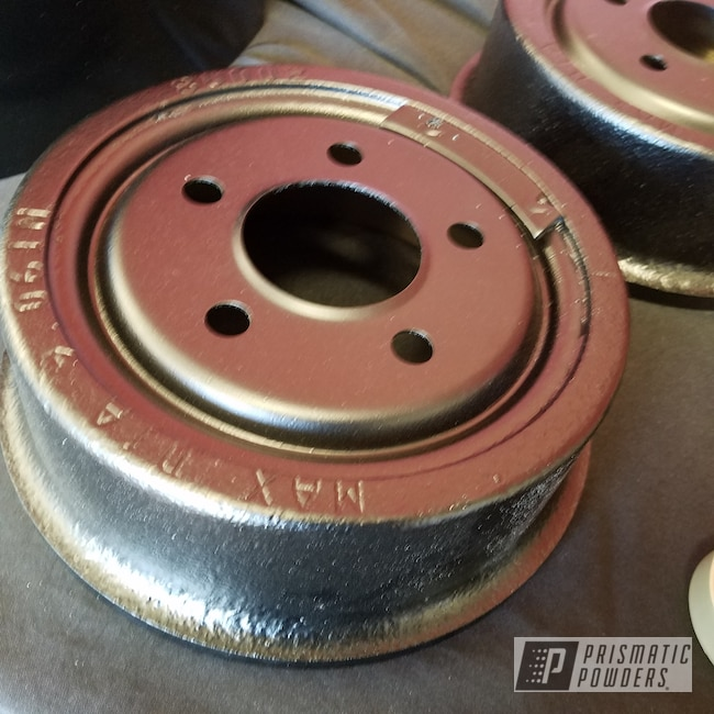 Powder Coating: Automotive,Brakes,BLACK JACK USS-1522,Powder coated brakes,Brake Drums