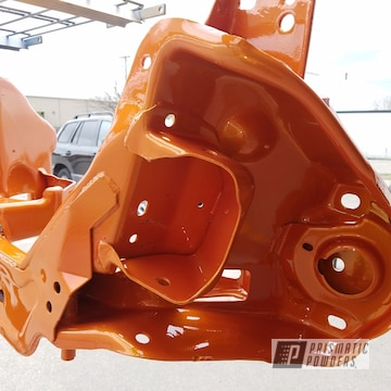 Ford Mustang Frame Refinished In Illusion Orange And Clear Vision