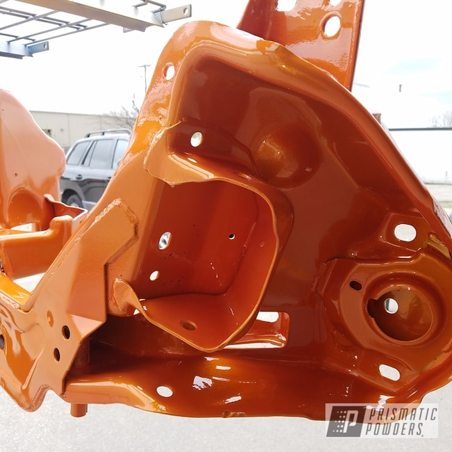 Powder Coating: Automotive,Clear Vision PPS-2974,Custom 2 Coats,Ford Mustang,Ford,Custom Two Color Application,Illusion Orange PMS-4620