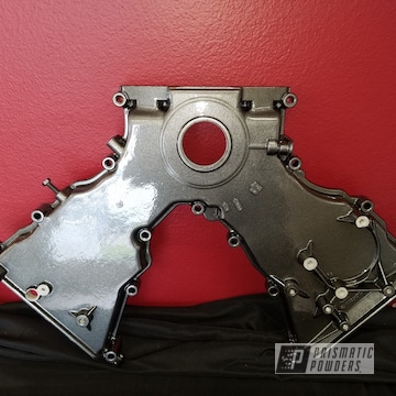 Ford Mustang Engine Components Done In Kingsport Grey And Clear Vision