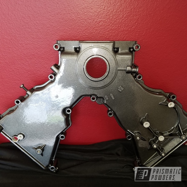 Powder Coating: Automotive,Clear Vision PPS-2974,Kingsport Grey PMB-5027,Engine Components,Ford Mustang,Ford