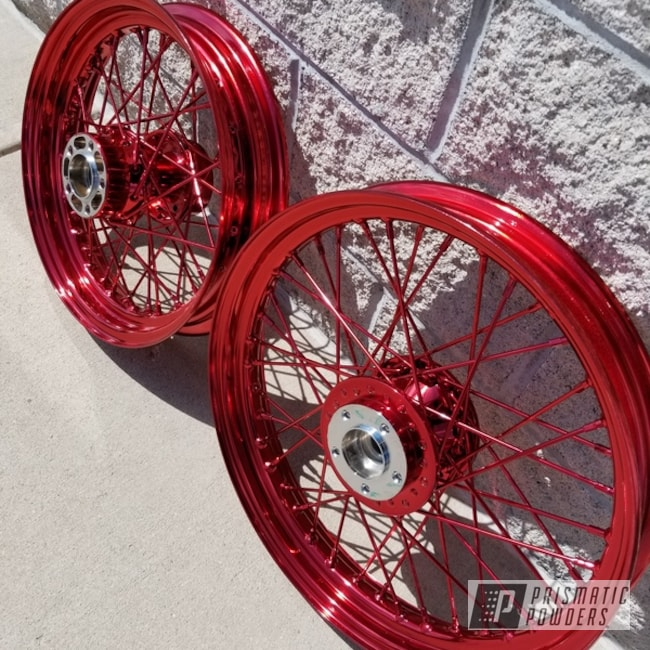 Powder Coating: Wheels,LOLLYPOP RED UPS-1506,Motorcycle Wheels,Motorcycles