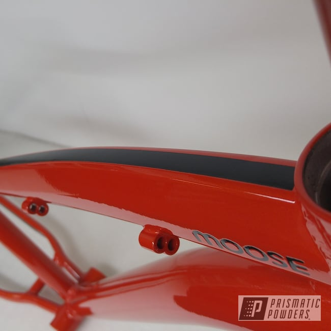 Powder Coating: Roadster Red PMB-10002,Bicycles,Clear Vision PPS-2974,Ink Black PSS-0106,Powder Coated Fat Bike,Powder Coated Bicycle Frame,Custom Bicycle Frame,Powder Coated Bike Frame,Bicycle Frame