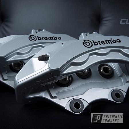 Powder Coating: Porsche Silver PMS-0439,Clear Vision PPS-2974,Brembo,Brake Calipers,Mopar,Brembo Brake Calipers,Hellcat,Houston,Custom Brakes,Custom Brake Calipers