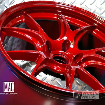 Doss Wheels In A Illusion Cherry And Clear Vision Powder Coat