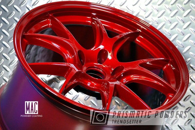 Powder Coating: Wheels,Automotive,Clear Vision PPS-2974,Illusion Cherry PMB-6905,Doss Wheels