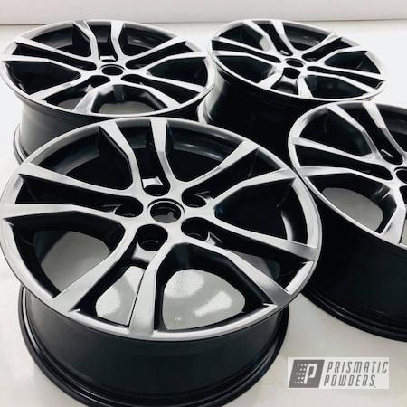 Powder Coating: Wheels,Matte Black PSS-4455,Automotive,Black,Chevy,Camaro