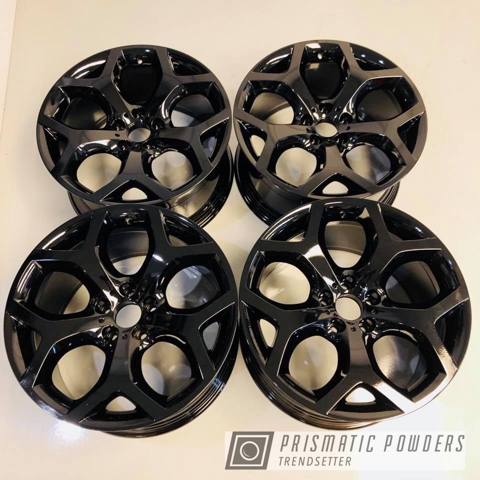 Powder Coating: Wheels,X5,Automotive,Black,Ink Black PSS-0106,BMW