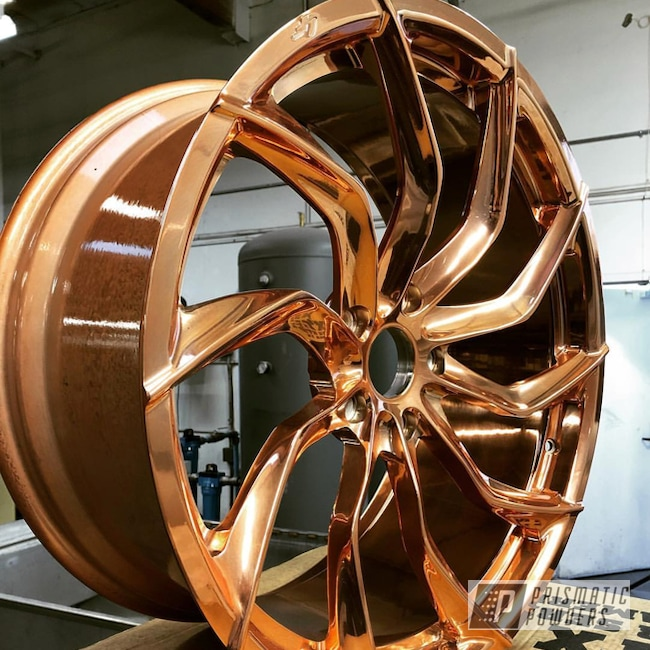 Custom Wheels In Trans Copper Ii Powder Coat