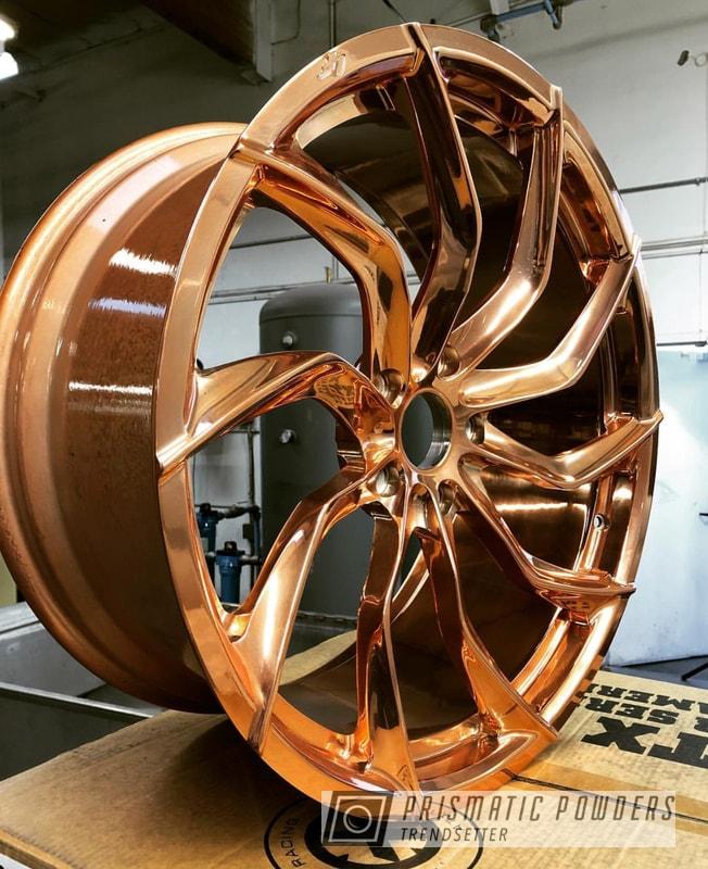 Custom Wheels In Trans Copper Ii Powder Coat