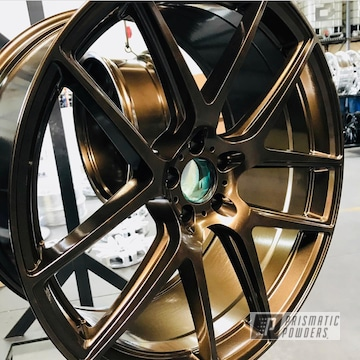 Custom Wheels In A Bronze Chrome Powder Coat