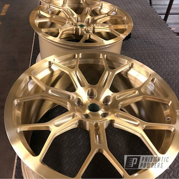 Custom Wheels In A Transparent Brass Powder Coat