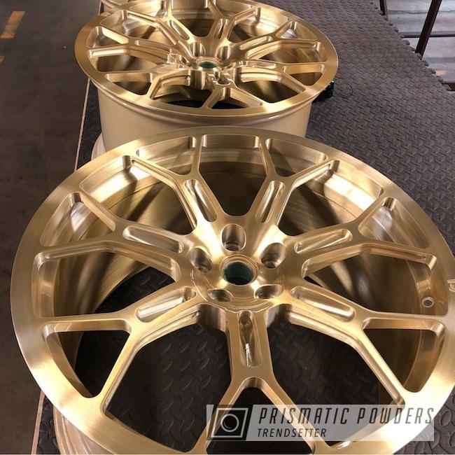 Powder Coating: Wheels,Automotive,Transparent Brass PPS-5159,Custom Wheels