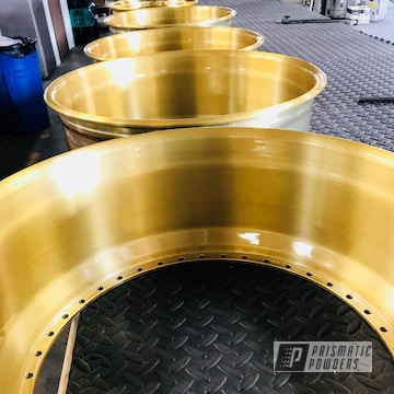 Rims Finished In A Transparent Brass Powder Coat