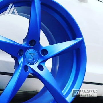 Wheels Done In A Peeka Blue And A Custom Matte Topcoat