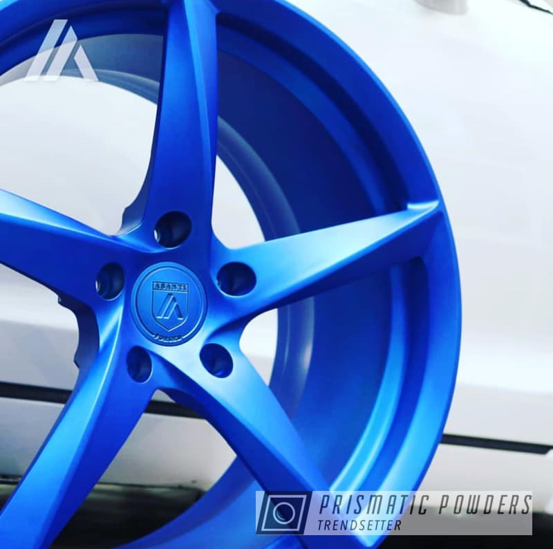 Powder Coating: Wheels,Automotive,Custom Wheels,Peeka Blue PPS-4351,Custom 2 Coats