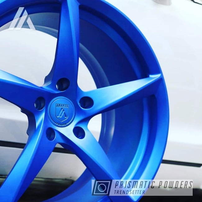 Powder Coating: Wheels,Automotive,Custom Wheels,Peeka Blue PPS-4351,Custom 2 Coats