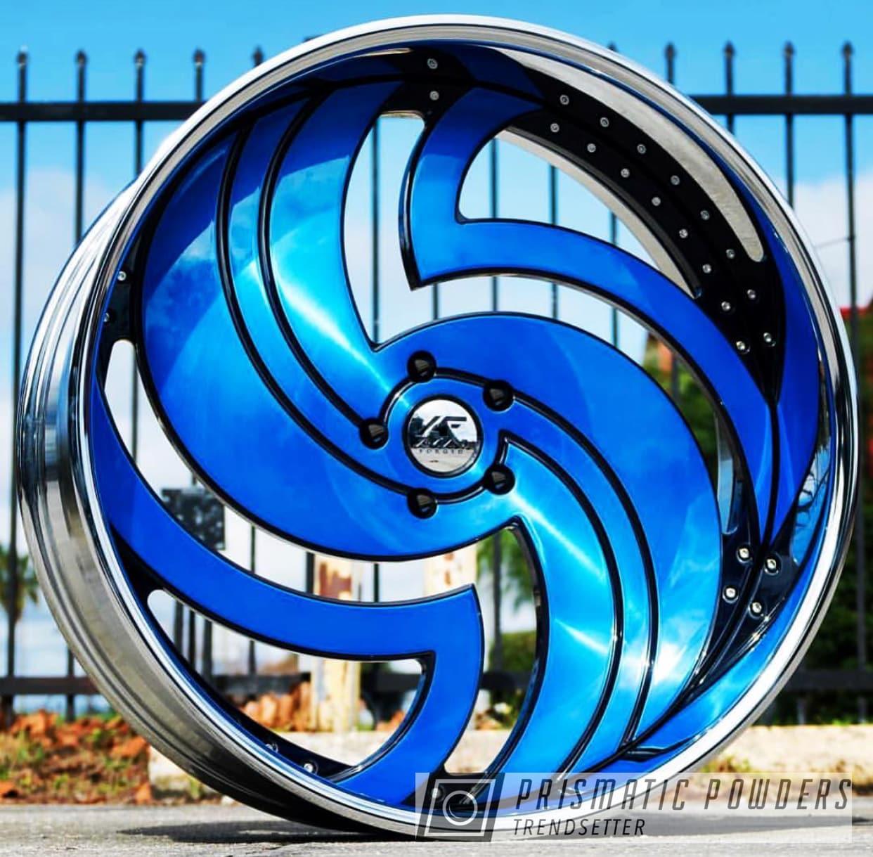 Powder Coating: Wheels,Automotive,Custom Wheels,Peeka Blue PPS-4351