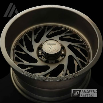 Custom Wheel In A Melted Bronze Powder Coat