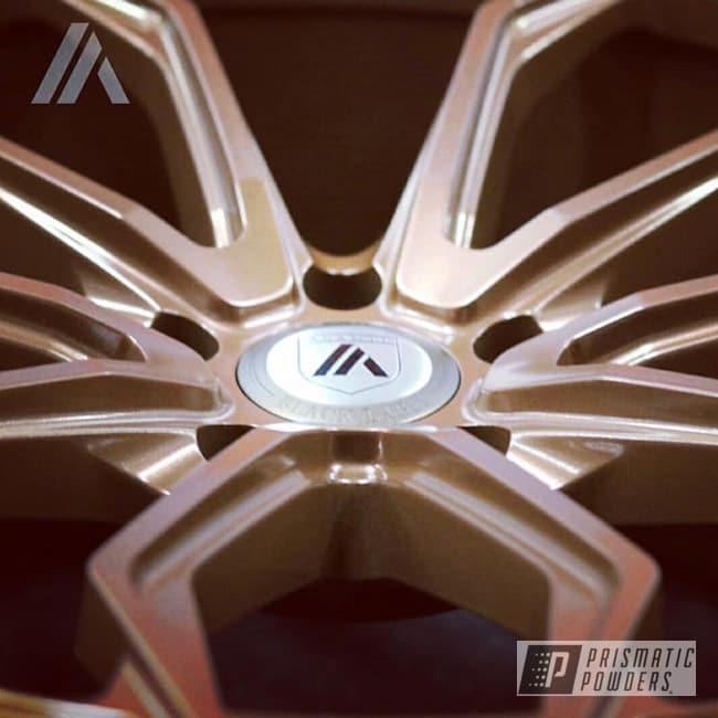Powder Coating: Wheels,Automotive,Custom Wheels,MINERS GOLD UMB-0888