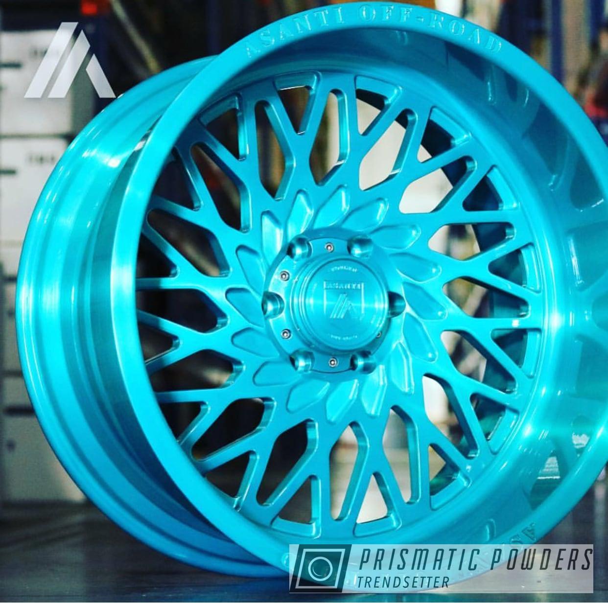 Powder Coating: Wheels,Automotive,Asanti Rims,Custom Wheels,Rims,HD TEAL UPB-1848,Asanti