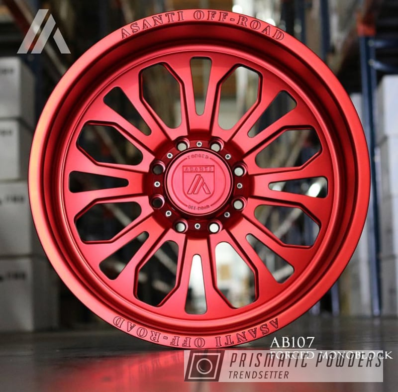 Powder Coating: Wheels,Automotive,Asanti Rims,Custom Wheels,Lollypop Red UPS-1506,Asanti