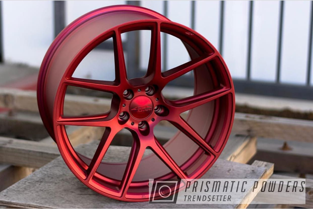Powder Coating: Wheels,Automotive,Custom Wheels,LOLLYPOP RED UPS-1506