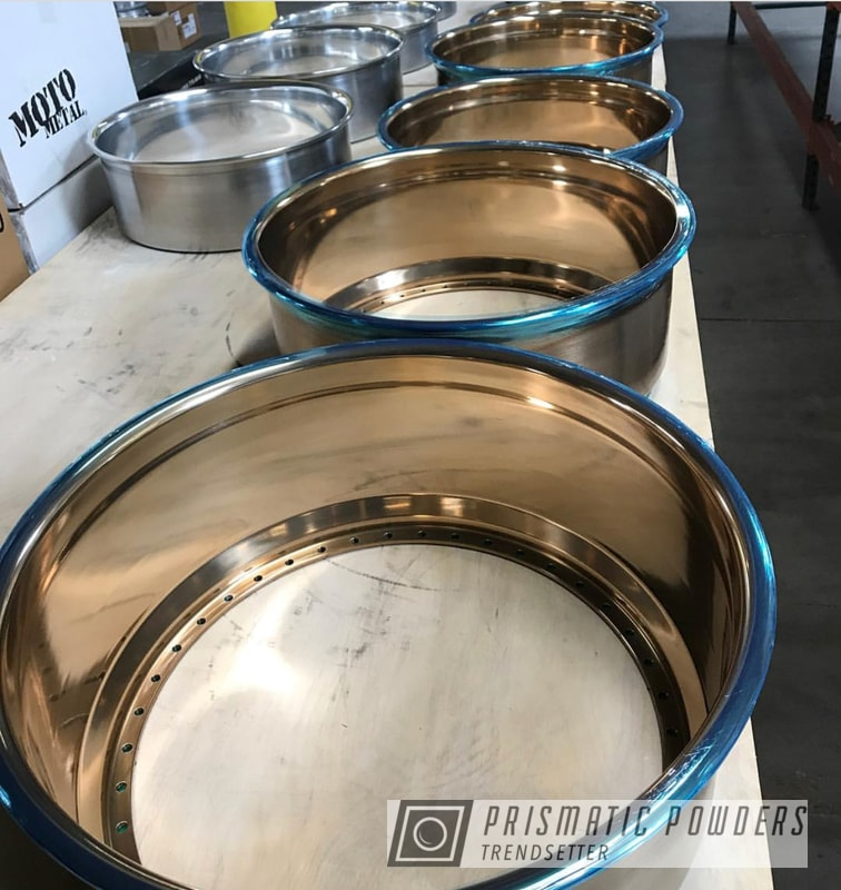 Wheel Rims In A Monaco Copper Powder Coat