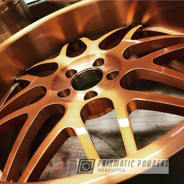 Wheel In A Trans Copper Ii Powder Coat