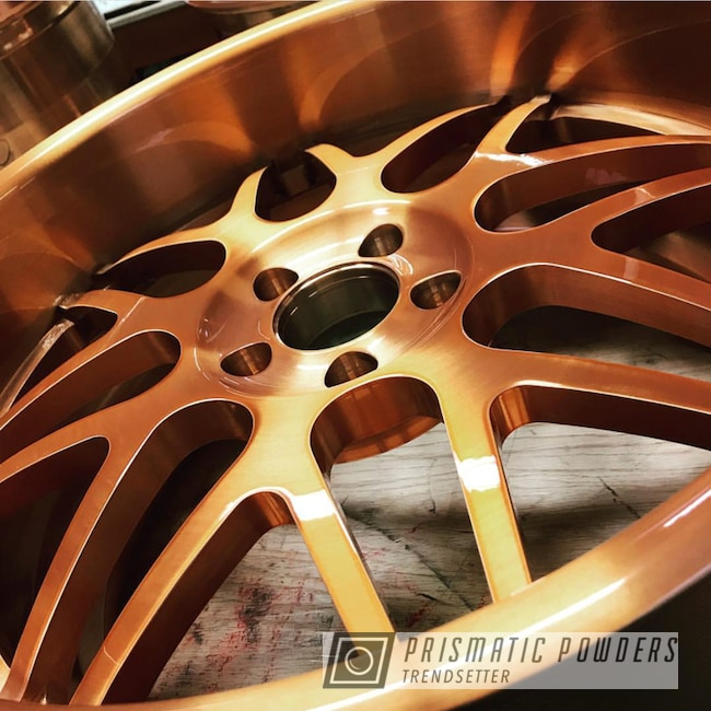 Wheel In A Trans Copper Ii Powder Coat